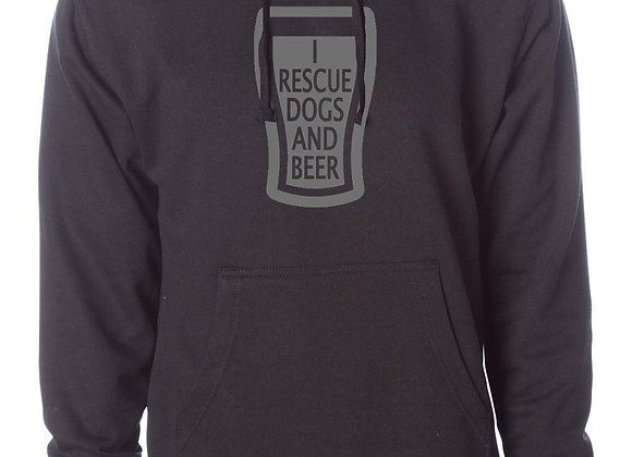 I Rescue Dogs and Beer Unisex Hoodie