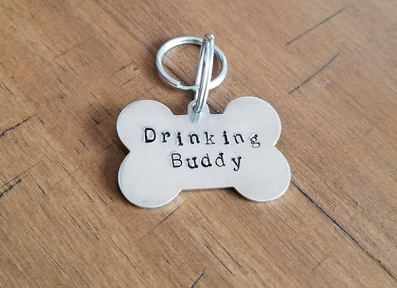 Drinking Buddy Bone Dog Tag