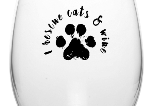 Cats & Wine Glass