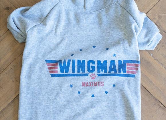 Wing-Man Dog Hoodie