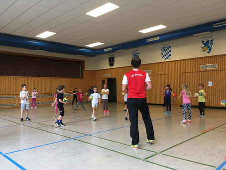 Die 2. Klassen erleben einen tollen Handballtag!