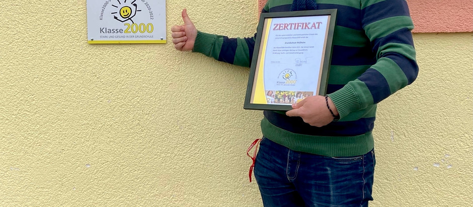 Klasse2000 Zertifikat für die Grundschule Mülheim