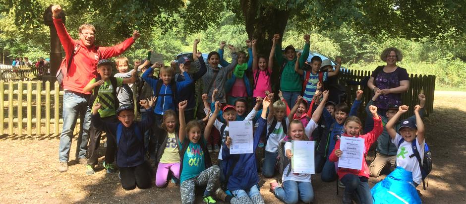 Grundschule Mülheim gewinnt die Waldjugendspiele 2015