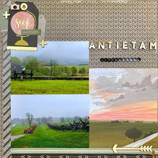 Antietam Battlefield - 12x12 Layout Process // Summer of Stories 2019 - Episode A
