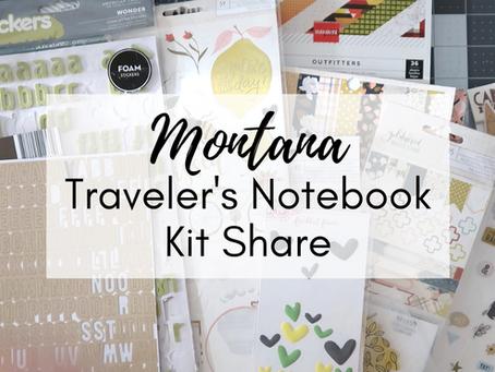 Documenting Montana - My Homemade Traveler's Notebook Kit!
