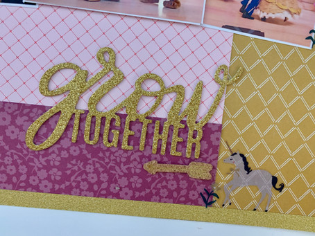 Grow Together 12x12 Layout Process | New Series - Mood Board Madness!