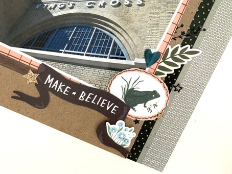 Make Believe - 12x12 Hogwarts Layout Process | Crate Paper Magical Forest