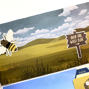Into the Wild Blue - Traveler's Notebook Process   Montana TN - Summer of Stories