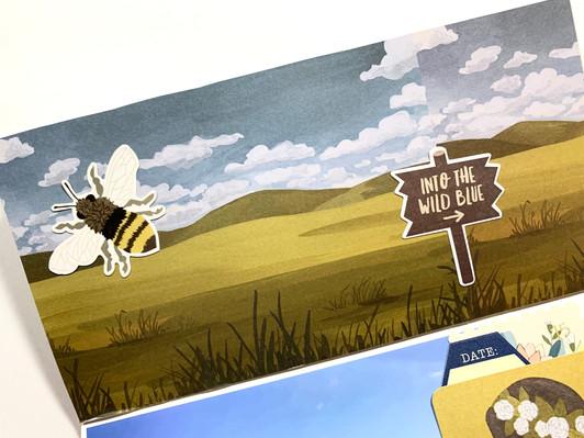 Into the Wild Blue - Traveler's Notebook Process | Montana TN - Summer of Stories