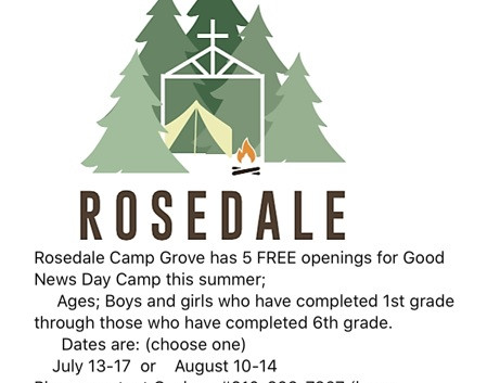 FREE OPENINGS FOR CAMP