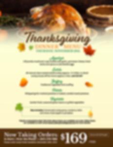 Delray Fresh Thanksgiving Day Dinner Menu 2019