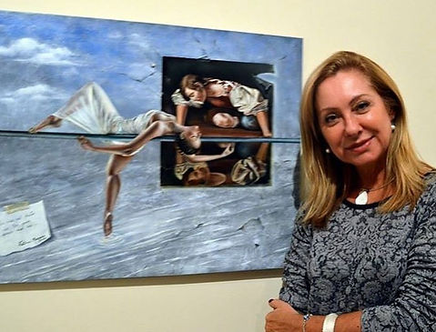 "Fatima Marques e sua obra ""Narcisse"""