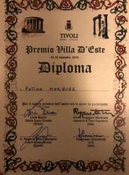 Premio 1º lugar- Villa d´Este-Tívoli- 2017