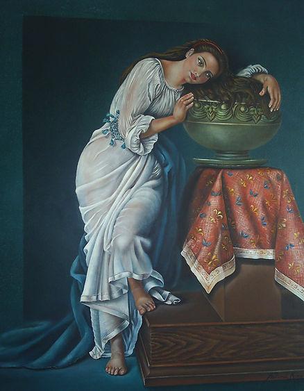""""""" Contemplação """" - 2009- óleo s/tela - 70x 60cm"""
