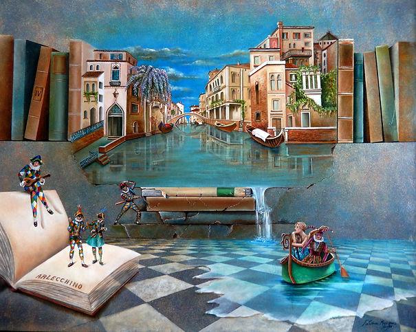 Venise das les rêves - 2016 - óleo s_ te