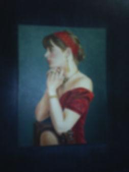 """ Ingênuidade"" - 2009- óleo s/tela - 70x 60cm"