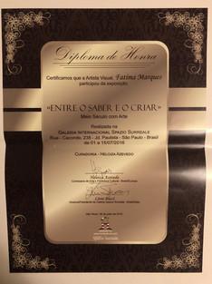 Certificado-Exposição Galleria Surreale-2016