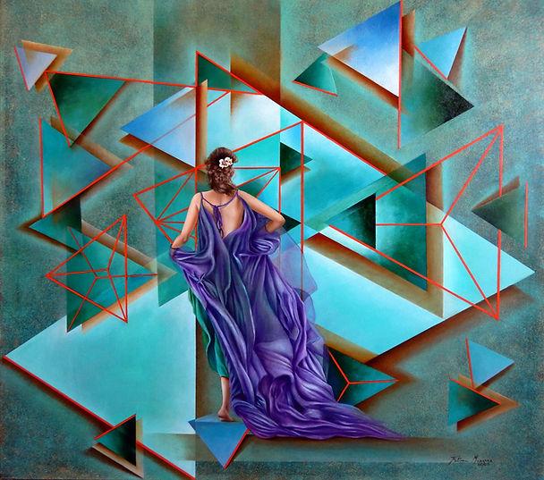 Dimensões - óleo sobre tela - 100 x 110