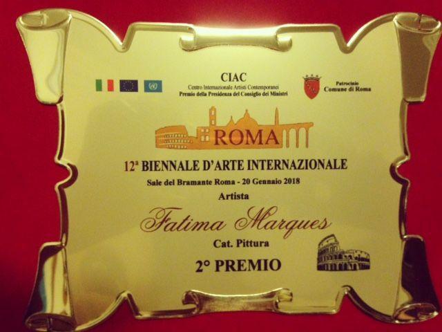 Trofeu 2º lugar da XII Bienal de Roma 2018