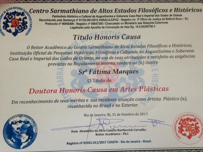 Título Dra Honoris Causa-Artes-2017