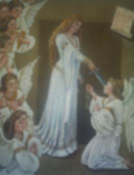 """"""" Angels - Consagração"""" - 2010- óleo s/tela - 80x 70cm"""