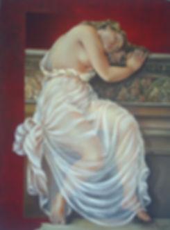 """ Devaneios"" - 2009- óleo s/tela - 80x 60cm"