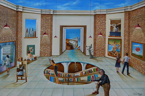 """Título da obra: """" O mundo surreal de Salvador Dali"""""""