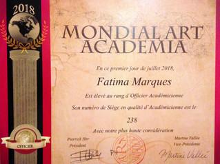 Officier Academicien Mondial Art Academia-2018
