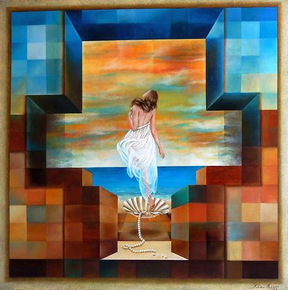 Vênus - óleo sobre tela - 100 x 100 cm -