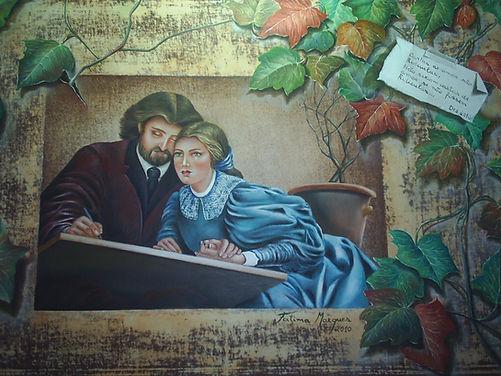 """"""" Cartas de amor são ridículas"""" - 2010- óleo s/tela - 50x 80cm"""
