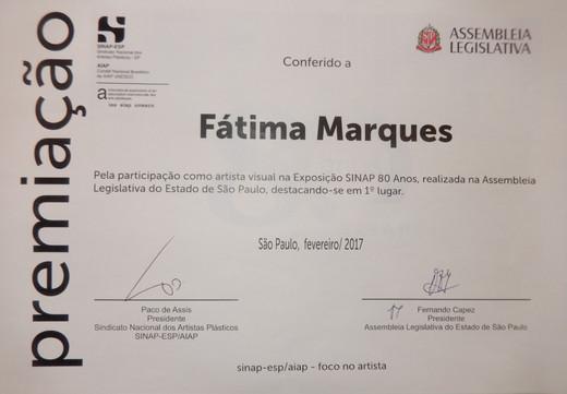 1ºlugar Exposição Assembléia Legislativa SP-2017