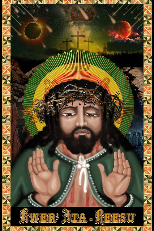 ETHIOPIAN ICON OF THE PASSION OF YESUS CHRISTOS