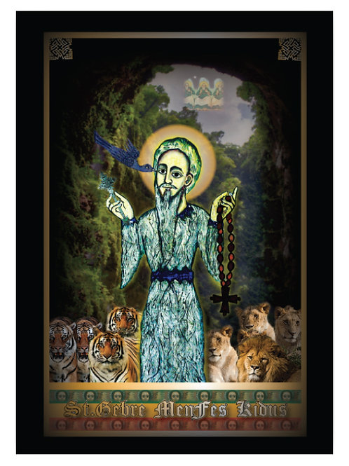 ST.GEBRE MENFES KIDUS ICON POSTER