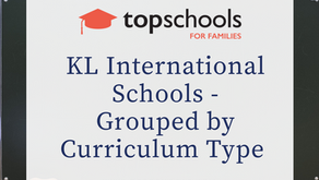 KL International Schools - Grouped by Curriculum Type