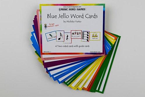 Blue Jello Word Cards
