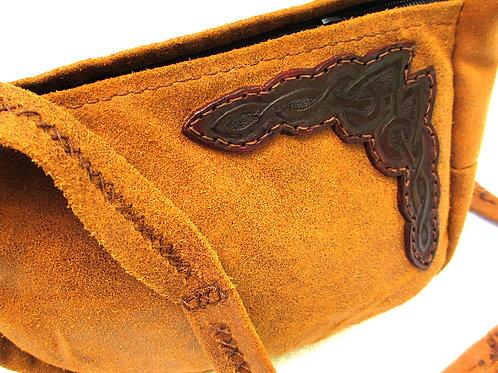 Medium Leather Suede w/Celtic Design