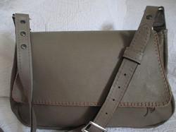 Glazed Leather Satchel