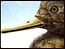 Sculpture - head of male merganser duck
