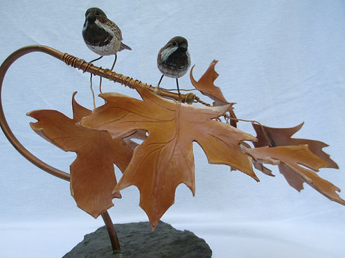 "Sparrows - Titled ""Agape"""