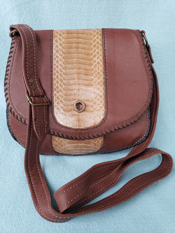 Leather with Genuine Cobra