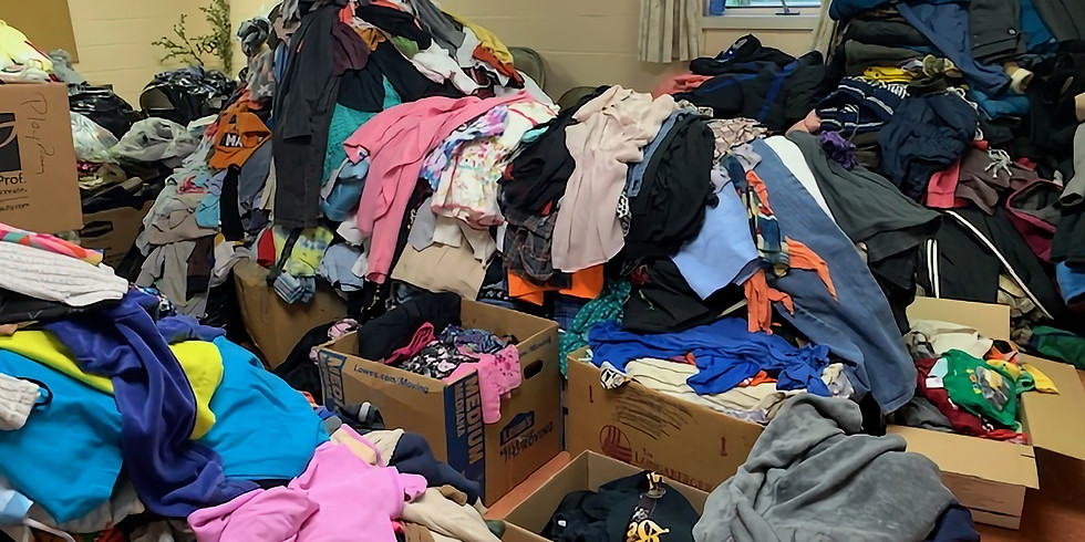 Clothing & Shoe Sale, By DONATION!