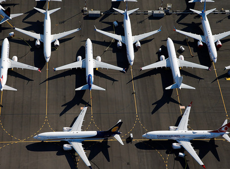 Sales of Boeing 737 aircraft fell after the ban on flying model Boeing 737MAX8