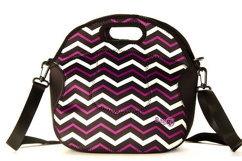 LANCHEIRA NEOPRENE BAGGY SNACK ZIG ZAG STRIPES
