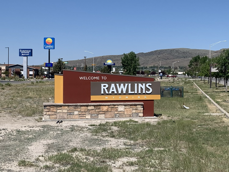 Day 56 - walk into Rawlins (9.3 miles)