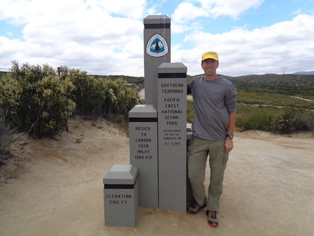 Day 1: Mexico Border to Hauser Creek (15.4 miles)