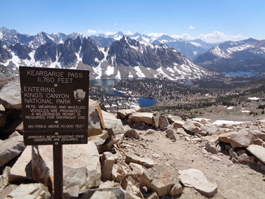 Day 40: Independence via Kearsarge Pass to Woods Creek (18.5 miles - 799.8)