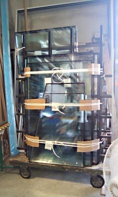Chariot de verre pour véranda tourves
