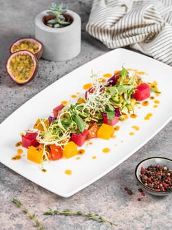 Салат из свежего тунца / tuna salad