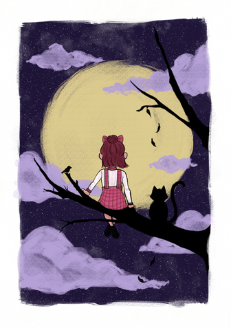 Girl and the Moon