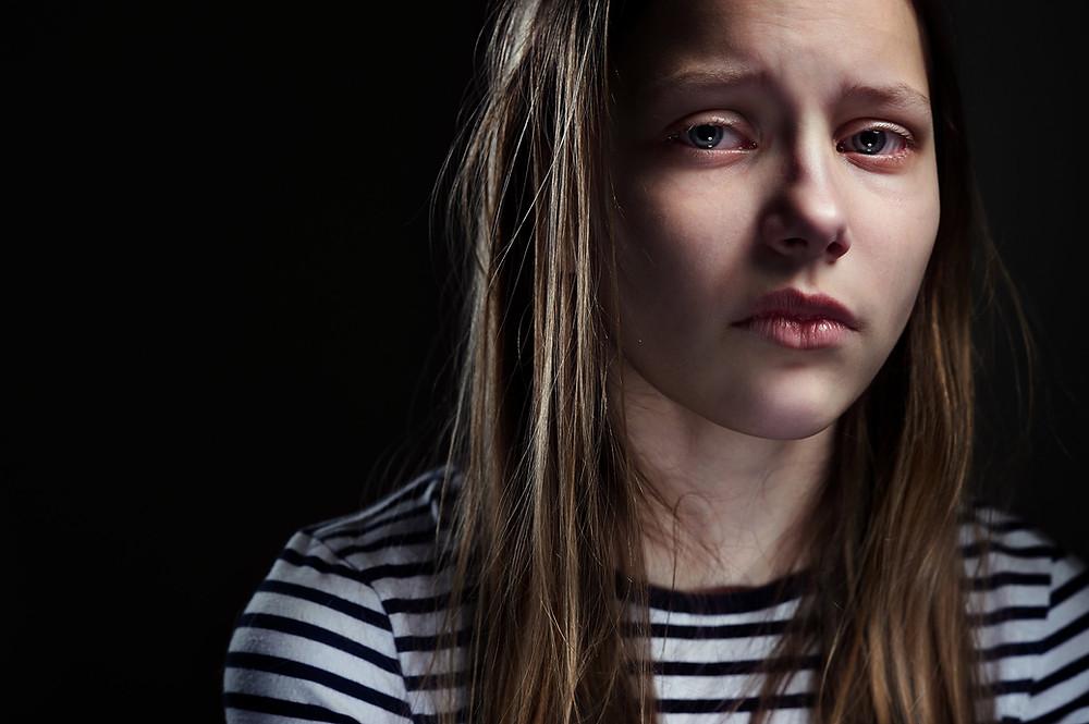 depressed adolescent girl